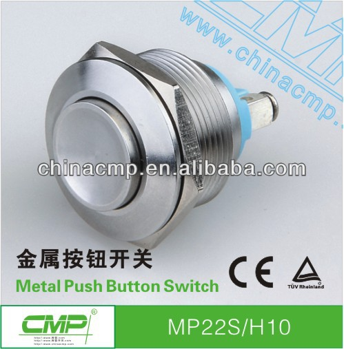 22mm CMP 1NO stainless steel waterproof push button switch 120v momentary ip67