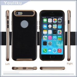 Slim fit mobile phone case hybrid tpu pc phone case for iphone 6 in stock with package