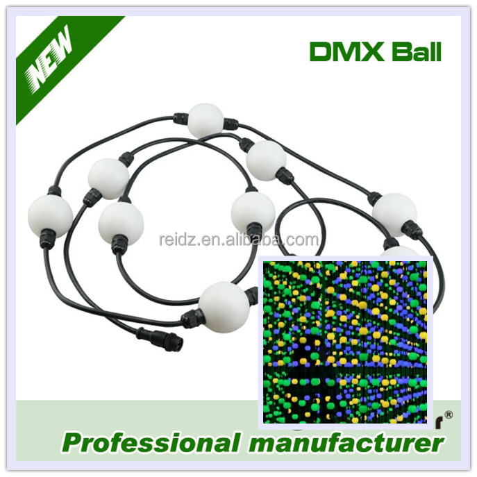 Madrix ball led video curtain 3D effect waterproof led ball dmx