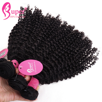 10A Grade Cuticle Aligned Peruvian Kinky Curly Expression Hair Weaves