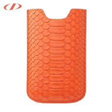 Genuine python leather case for iphone 7 orange for iphone 7 pouch for iphone 7 plus pyton leather case