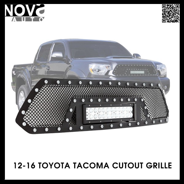 Led Light Bar Grille 2012-2016 Stainless Steel Wire Mesh Toyota Tacoma Grille