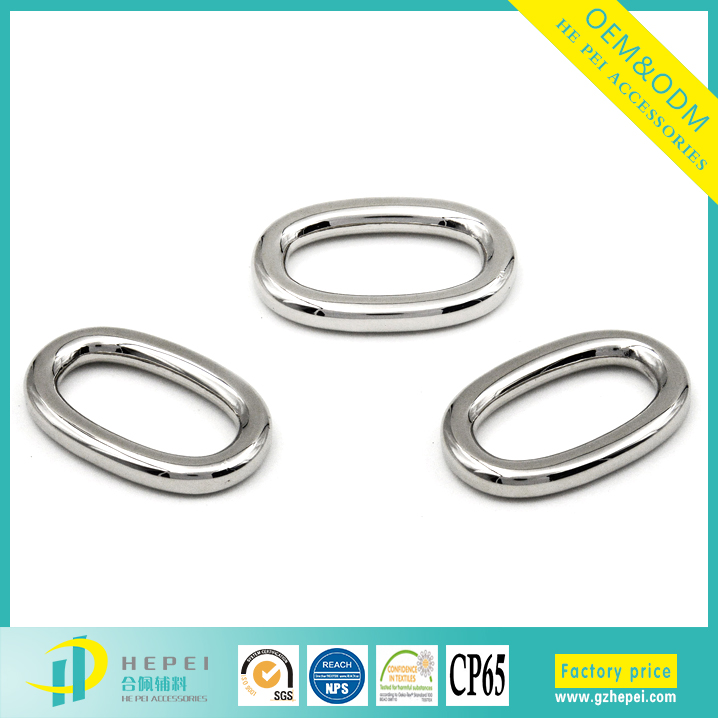 Fashionable High Quality Metal Oval Ring Belt Buckle