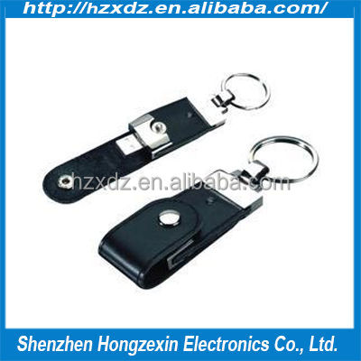 promotional gift design leather 4gb usb flash drive, lanyard 4gb usb flash drives