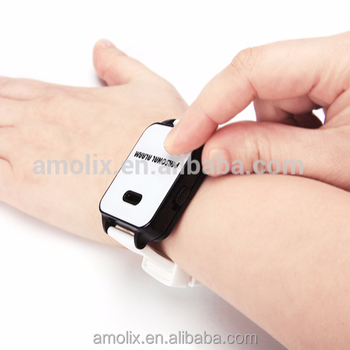 Emergency watch wristband personal alarm