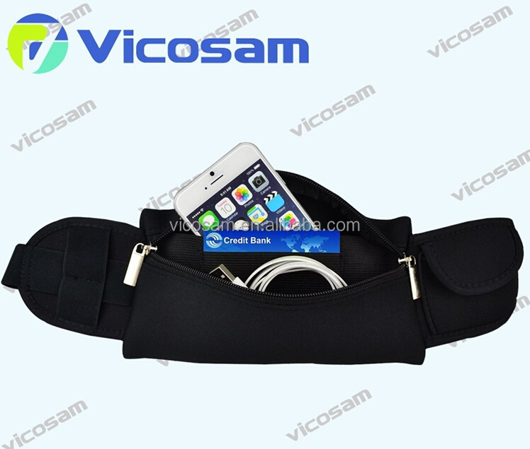 Sport elastic waist bag, small waist bag belt, waist pouch with running belt