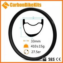 OEM Accept CarbonBiekKits 27.5er 33mm x 30mm Tubeless Hookless MTB Carbon Rims bicycle rim offset clincher EC650-33