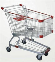 Chrome Plated Supermarket Easy Wheels Shopping Cart