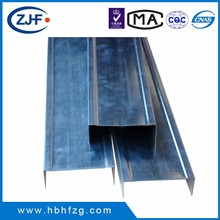 Ceiling grid suspended metal main keel / U channel with low price