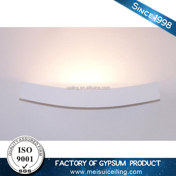 Indoor decorative Plaster Gypsum Wall Lamp for hotel