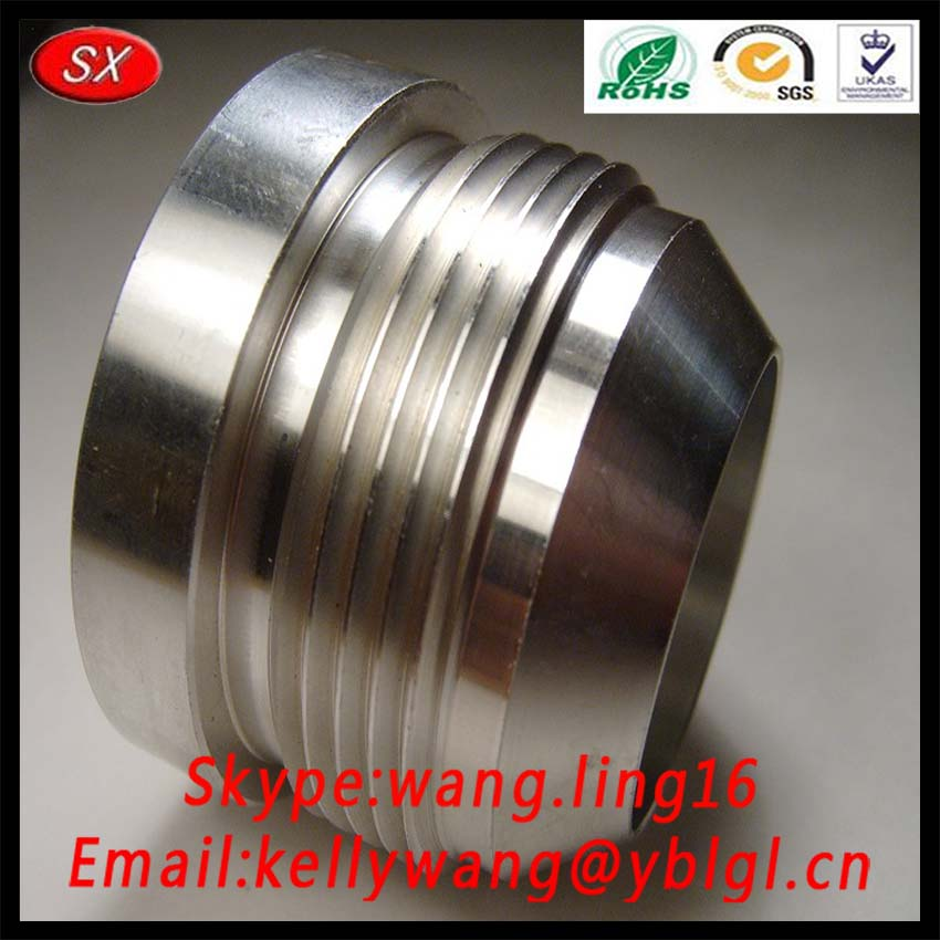 CNC Machined Steel Tube End Weld Bung, Weld In Threaded Bung Tube End For Joint