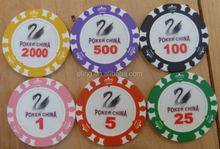 14 Gram Colorful Clay Poker Chips mahjong table cover