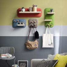 Beautiful wooden wall hanging rack shelf for home decoration