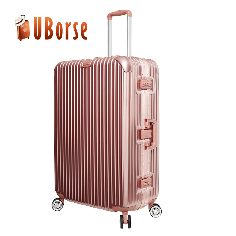 AC22 Genuine hard shell luggage ABs PC trolley suitcase factory price