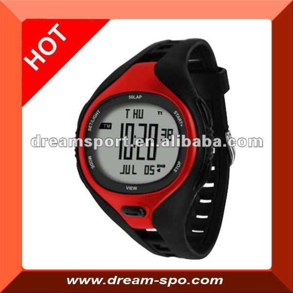 Timer/water resist stop watch 50m/marathon stop watch/for running