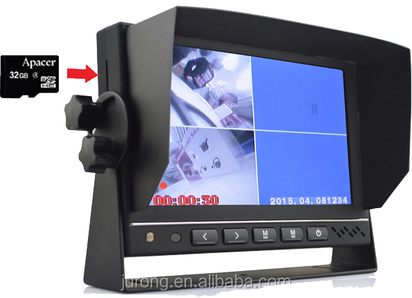 Car dvr 7 inch monitor with dvr HDMI AV input