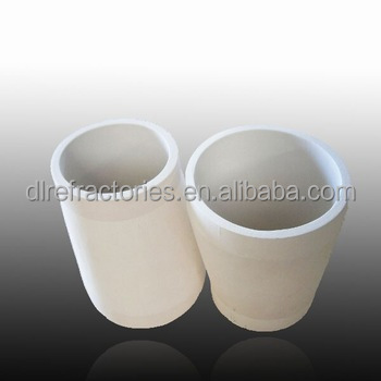 Wear resistant Al2O3 tapered ceramic pipe for casting investment