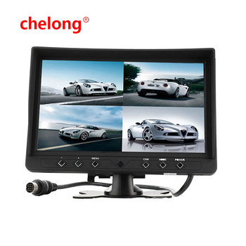 OEM 9INCH QUAD STAND ALONE TFT LED MONITOR 12V-32V WITH 2 VIDEO INPUT