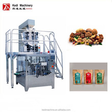 Automatic Nuts Almond Zip lock Bag Packaging Machine