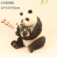 resin sensor panda statue garden decoration