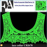black front and back neck design of kurtis embroidery lace neck trim collar