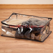 clear plastic zippered shoe storage bag