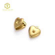 Gold Filled Heart Shaped Alloy Charm Locket For Jewelry Making