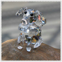 Loyalty Clear Crystal Dog For Animal Figurine Gift