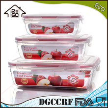 NBRSC 3pcs airtight food storage container stackable Snapware Airtight kitchen container