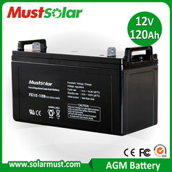 MUST Solar 12V 120Ah AGM Battery for Solar Storage