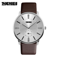 skmei brand imported movt quartz watch leather bracelet men watches