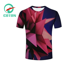 Custom Your Own Design 100% Polyester Wholesale Full Sublimation T Shirt With Pattern