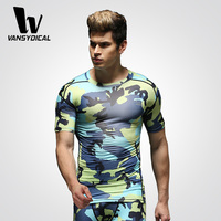 Wholesale custom design quick dry fitness compression men sportwear mens t shirts