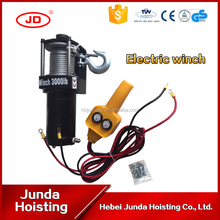 Hot sale DC motor 24V 12 V 3000LBS electric capstan winches used for building