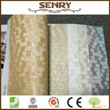bamboo weaving waterproof vinyl wallpapers for wall calendar printing 2017