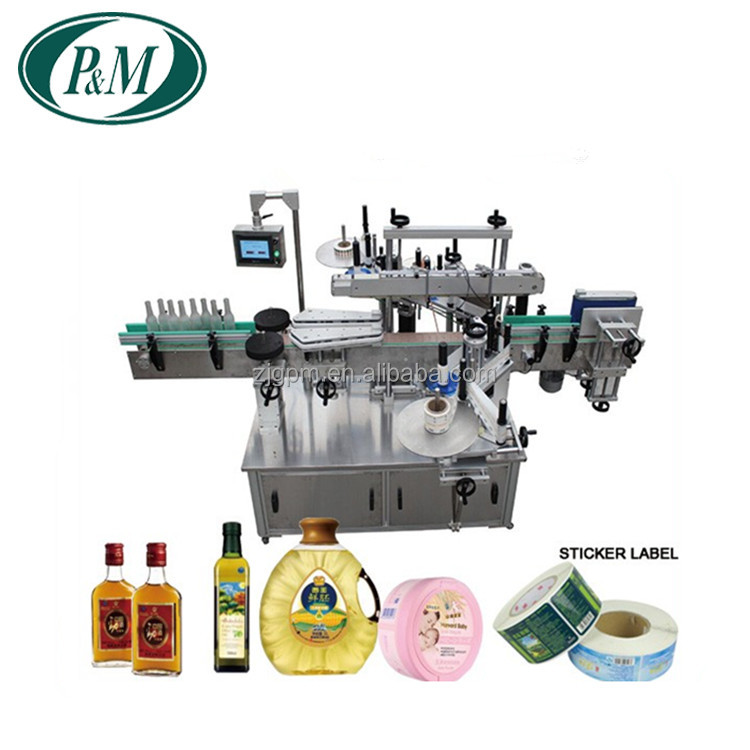 Zhangjiagang Hot Sale Fully Automatic Double Sides Self Adhesive Label Stickers Labeling Machine for Vaious Bottles
