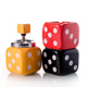 ceramic poker ashtray with lid Skull cube flag ashtray