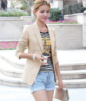 2015 New Fashion spring Women Slim Blazer Coat Casual Jackets Long Sleeve Suit Outerwear