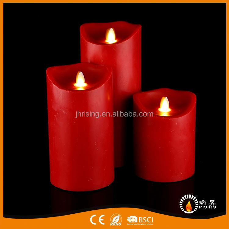 Factory supply mode cheapest moving flame led candle