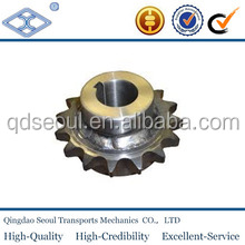 DIN 8187 ISO/R 606 5/8''*3/8'' pitch 12.7 roller 8.51 carton steel 10b-1 simplex roller chain 47T tapered bore sprocket