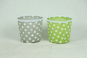 paper flower pot cover with felt decoration