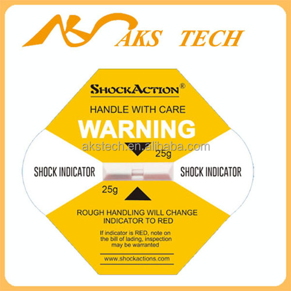 Model 25G Shockaction G-Force Monitoring Impact Label / Sticker