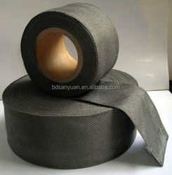 12mm width hot resistant stainless steel fibre woven glass making fabric tape