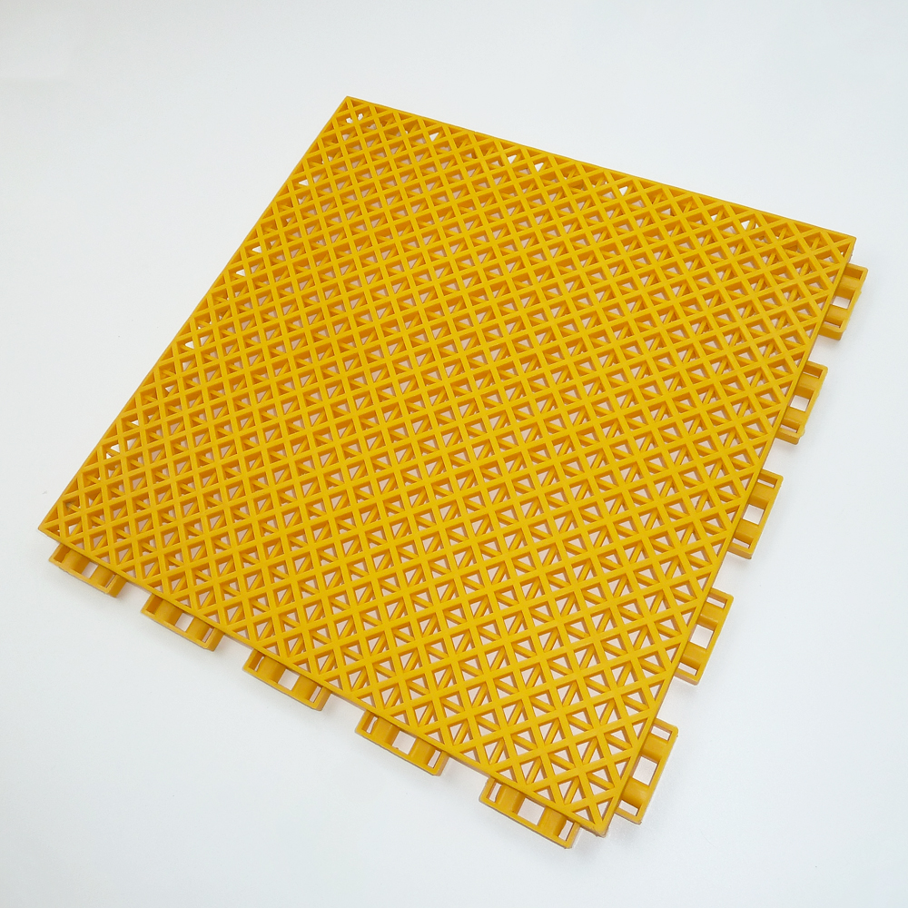 Eco friendly plastic raw material interlocking basketball court used flooring
