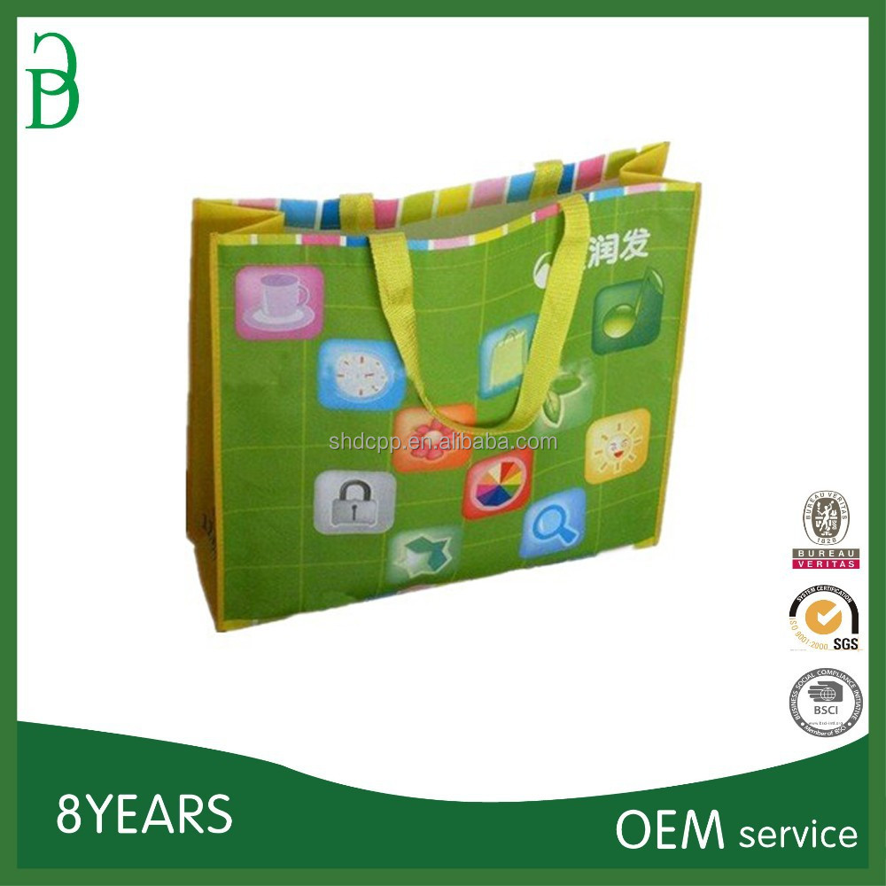 wholesale logo printed recyclable reusable foldable custom made cheap promotional bag