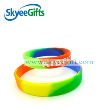 custom colorful Girls TOP Selling segment color silicone bracelets