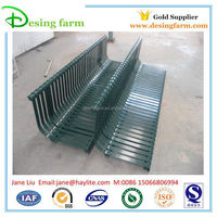 Outdoor metal park bench with parts and leg
