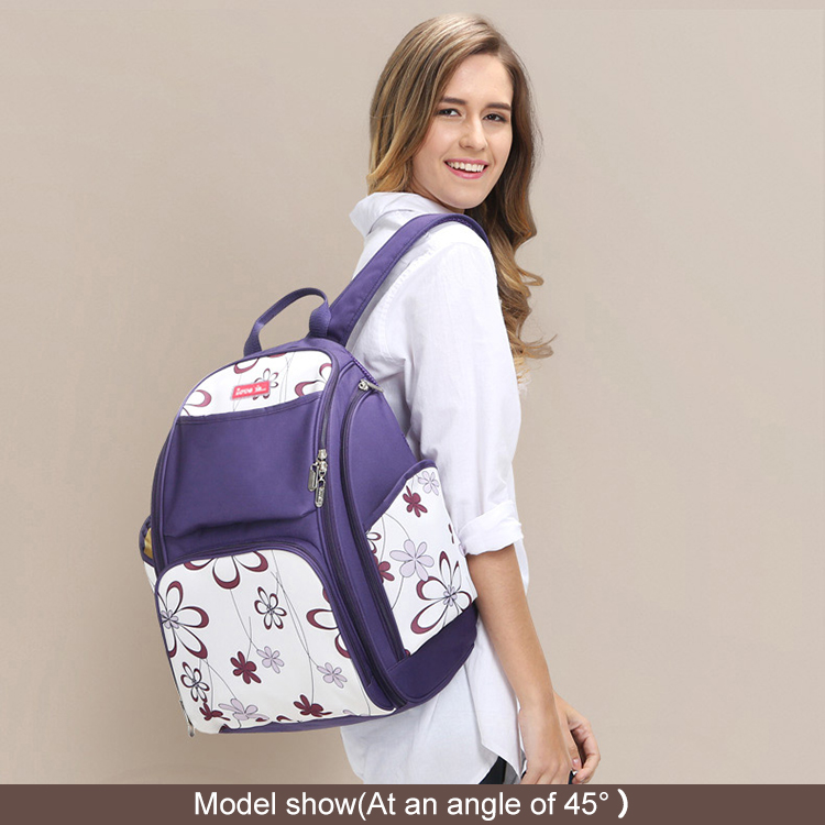 Fashion backpack adult baby diaper bag backpack