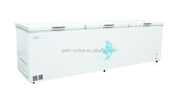 New type double top open door chest freezer 1500L