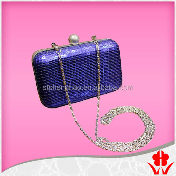 purple sequin lady frame vening bag with should chain women evening bag purse lady